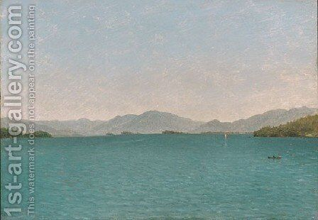 Lake George  Free Study by John Frederick Kensett - Reproduction Oil Painting