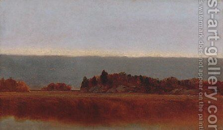 Salt Meadow In October by John Frederick Kensett - Reproduction Oil Painting