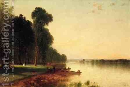Summer Day On Conesus Lake by John Frederick Kensett - Reproduction Oil Painting