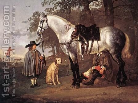 Grey Horse in a Landscape by Aelbert Cuyp - Reproduction Oil Painting