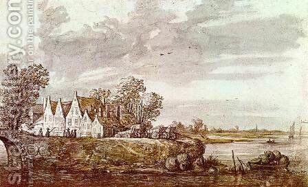 Landscape 1640s by Aelbert Cuyp - Reproduction Oil Painting