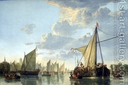 The Maas at Dordrecht c. 1660 by Aelbert Cuyp - Reproduction Oil Painting