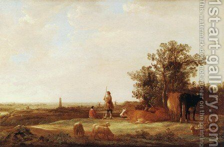 View Of A Plain by Aelbert Cuyp - Reproduction Oil Painting