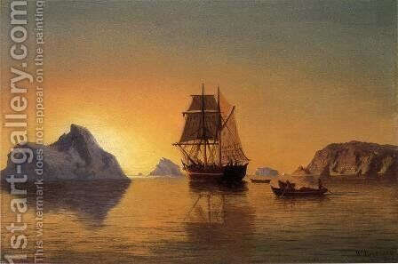 An Arctic Scene by William Bradford - Reproduction Oil Painting