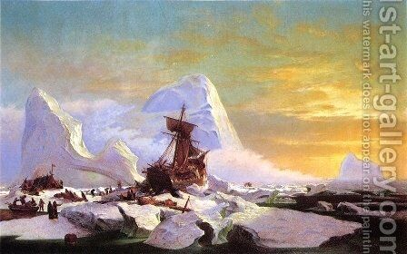 Crushed In The Ice by William Bradford - Reproduction Oil Painting