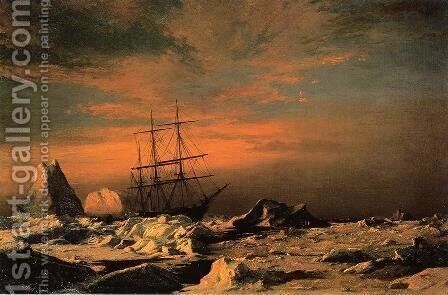 Ice Dwellers Watching The Invaders by William Bradford - Reproduction Oil Painting