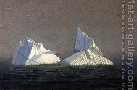 Icebergs by William Bradford - Reproduction Oil Painting