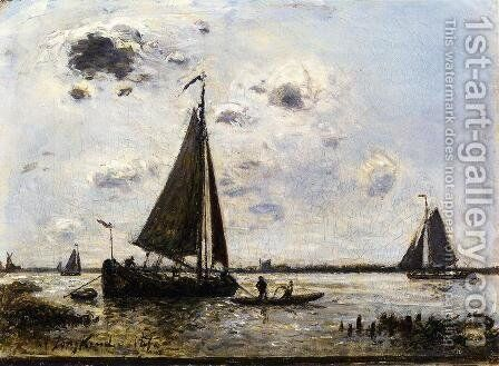 Near Dordrecht by Johan Barthold Jongkind - Reproduction Oil Painting