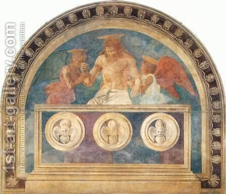Christ In The Sepulchre With Two Angels2 by Andrea Del Castagno - Reproduction Oil Painting