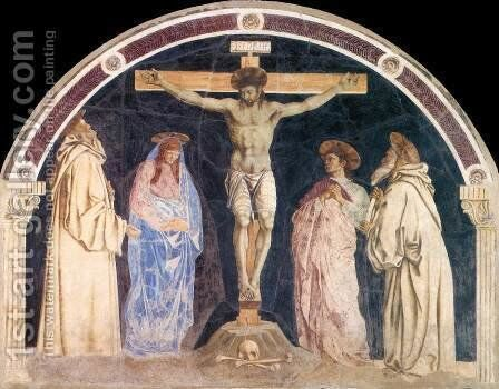 Crucifixion 1455 by Andrea Del Castagno - Reproduction Oil Painting