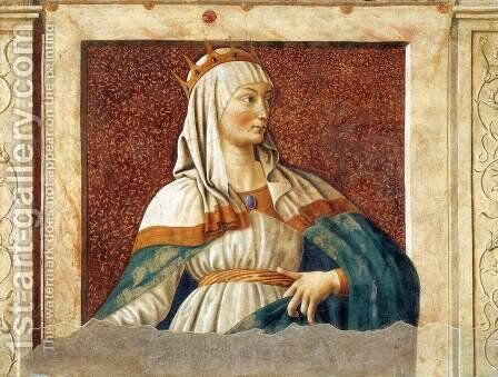 Famous Persons Queen Esther 1450 by Andrea Del Castagno - Reproduction Oil Painting