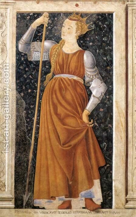 Famous Persons Queen Tomyris 1450 by Andrea Del Castagno - Reproduction Oil Painting