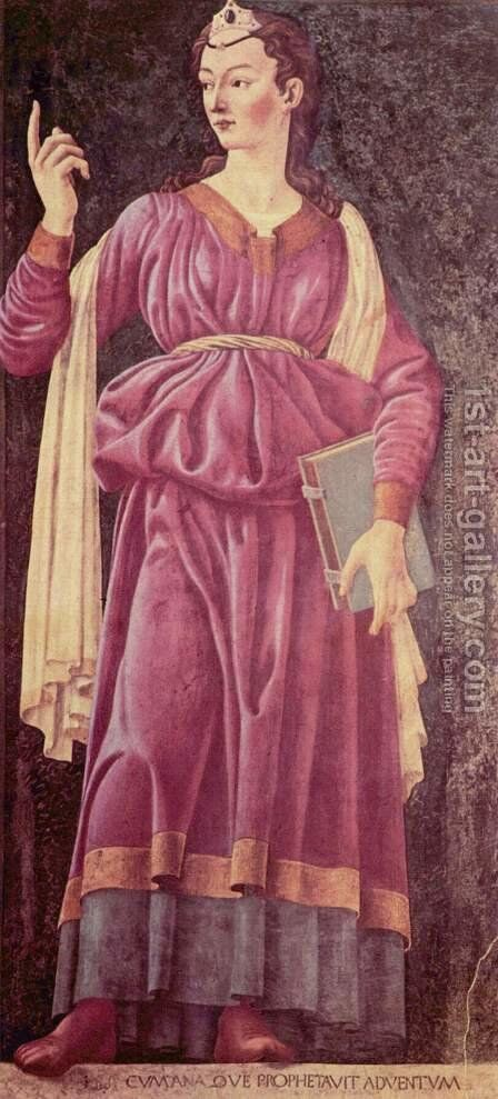 Famous Persons The Cumean Sibyl 1450 by Andrea Del Castagno - Reproduction Oil Painting