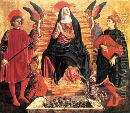 Our Lady Of The Assumption With Saints Miniato And Julian by Andrea Del Castagno - Reproduction Oil Painting