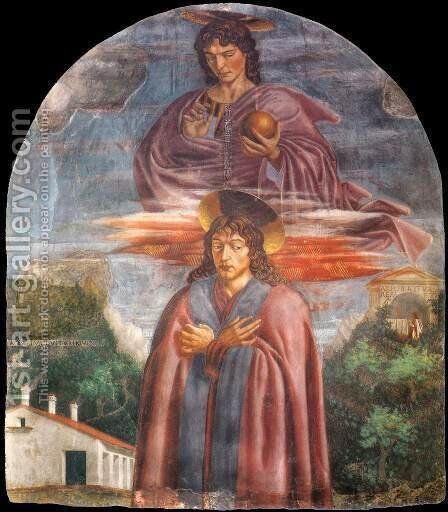 St  Julian And The Redeemer by Andrea Del Castagno - Reproduction Oil Painting