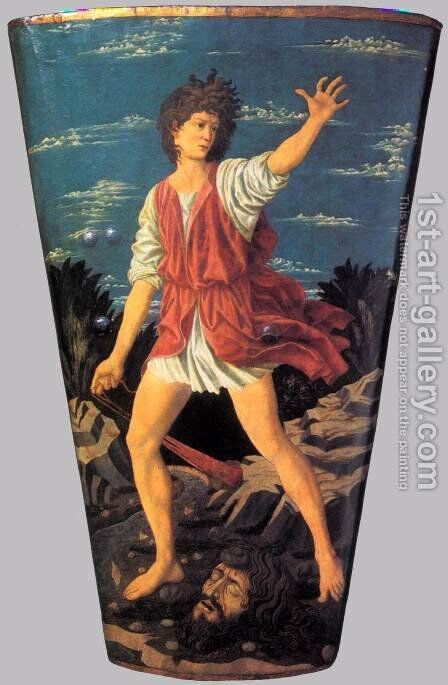 The Youthful David by Andrea Del Castagno - Reproduction Oil Painting