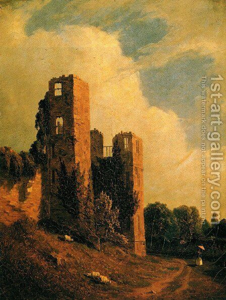 Kenilworth Castle by Sanford Robinson Gifford - Reproduction Oil Painting