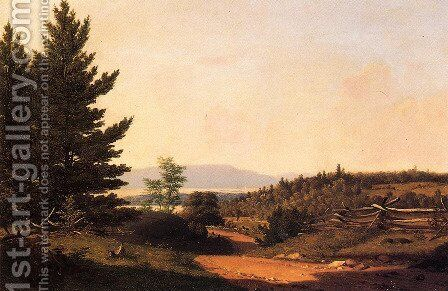 Road Scenery Near Lake George by Sanford Robinson Gifford - Reproduction Oil Painting