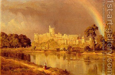 Study Of Windsor Castle by Sanford Robinson Gifford - Reproduction Oil Painting
