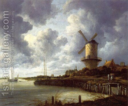 Mill At Wijk Near Duursteede by Jacob Van Ruisdael - Reproduction Oil Painting