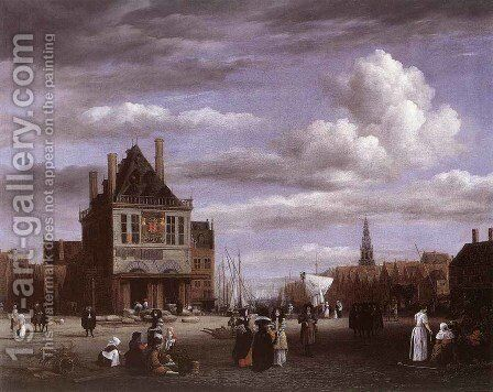 The Dam Square In Amsterdam by Jacob Van Ruisdael - Reproduction Oil Painting