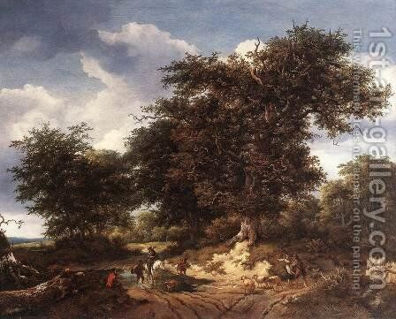 The Great Oak 1652 by Jacob Van Ruisdael - Reproduction Oil Painting