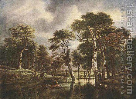 The Hunt by Jacob Van Ruisdael - Reproduction Oil Painting