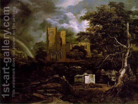 The Jewish Cemetery c 1657 by Jacob Van Ruisdael - Reproduction Oil Painting