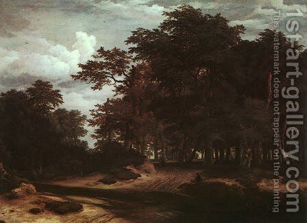 The Great Forest by Jacob Van Ruisdael - Reproduction Oil Painting
