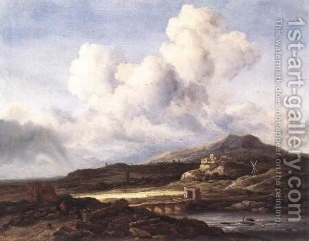 The Ray of Sunlight c. 1660 by Jacob Van Ruisdael - Reproduction Oil Painting