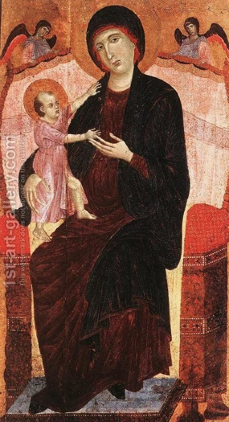 Gualino Madonna after 1285 by Duccio Di Buoninsegna - Reproduction Oil Painting