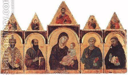 Polyptych No. 28, 1300-05 by Duccio Di Buoninsegna - Reproduction Oil Painting