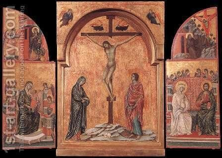 Triptych 1305-08 by Duccio Di Buoninsegna - Reproduction Oil Painting