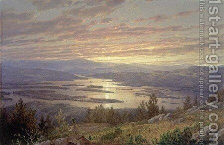 Lake Squam From Red Hill3 by William Trost Richards - Reproduction Oil Painting