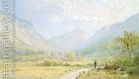 Franconia Notch  New Hampshire by William Trost Richards - Reproduction Oil Painting
