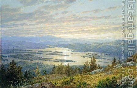 Lake Squam And The Sandwich Mountains by William Trost Richards - Reproduction Oil Painting