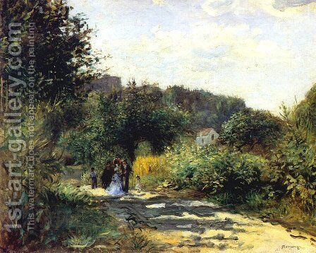 A Road In Louveciennes by Pierre Auguste Renoir - Reproduction Oil Painting