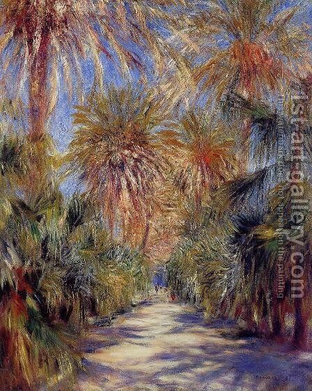 Algiers  The Garden Of Essai by Pierre Auguste Renoir - Reproduction Oil Painting