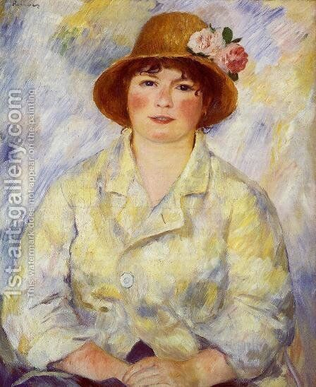 Aline Charigot (future Madame Renoir) by Pierre Auguste Renoir - Reproduction Oil Painting