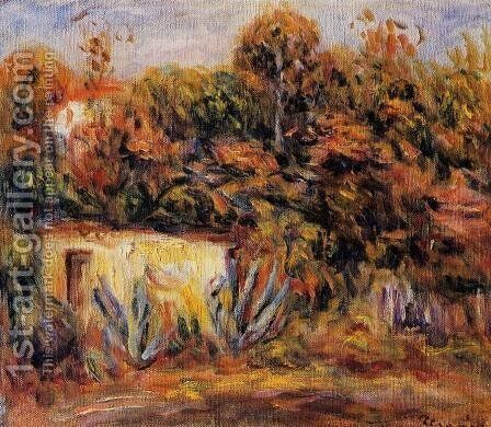 Cabin With Aloe Plants by Pierre Auguste Renoir - Reproduction Oil Painting