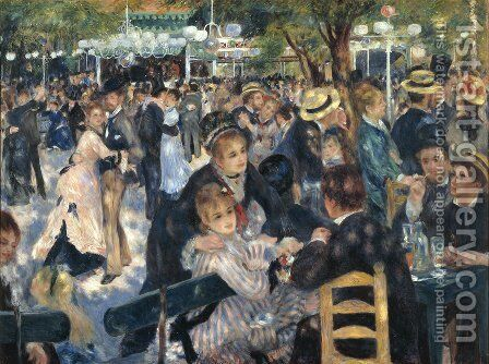Dance At The Moulin De La Galette by Pierre Auguste Renoir - Reproduction Oil Painting