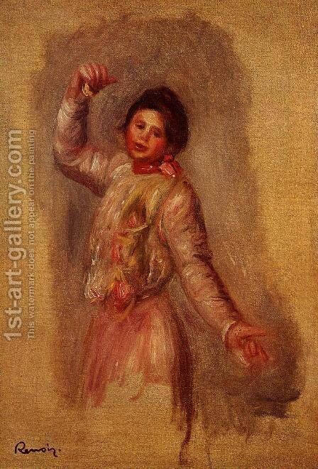 Dancer With Castenets by Pierre Auguste Renoir - Reproduction Oil Painting