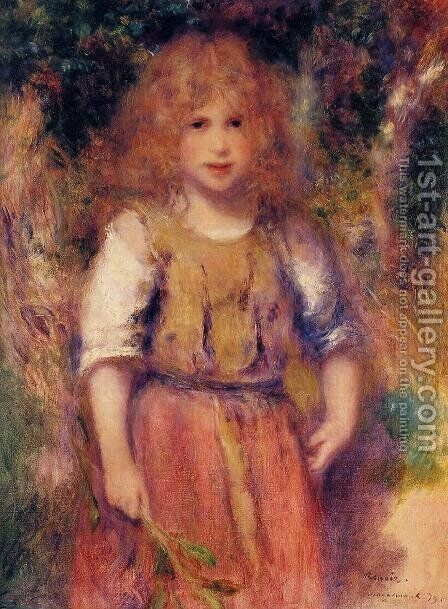 Gypsy Girl by Pierre Auguste Renoir - Reproduction Oil Painting