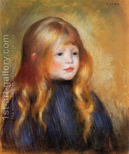 Head Of A Child Aka Edmond Renoir by Pierre Auguste Renoir - Reproduction Oil Painting