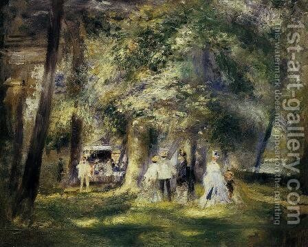In St Cloud Park by Pierre Auguste Renoir - Reproduction Oil Painting