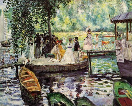 La Grenouillere2 by Pierre Auguste Renoir - Reproduction Oil Painting
