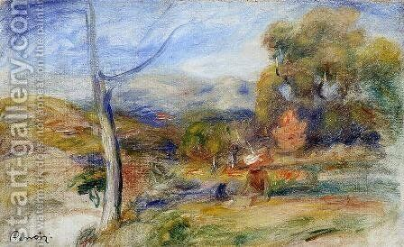 Landscape Near Cagnes3 by Pierre Auguste Renoir - Reproduction Oil Painting
