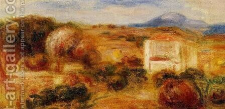 Landscape With White House by Pierre Auguste Renoir - Reproduction Oil Painting