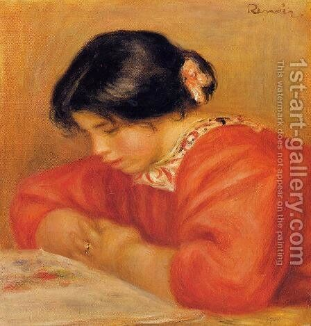 Leontine Reading 2 by Pierre Auguste Renoir - Reproduction Oil Painting
