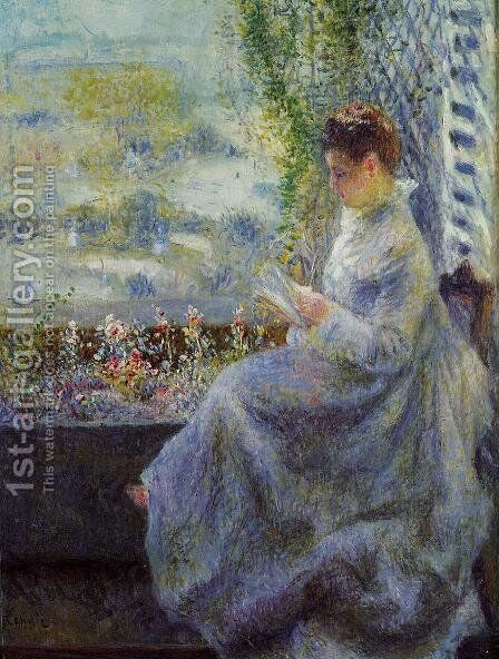 Madame Chocquet Reading by Pierre Auguste Renoir - Reproduction Oil Painting